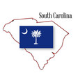 south carolina state map and flag vector image
