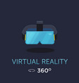 vr headset icon virtual reality glass vector image