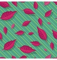 Red Leaves Seamless Pattern vector image