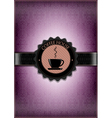 Purple coffee house desing vector image