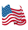 United states of america flag waving symbol vector image