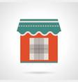 trade kiosk flat color icon vector image