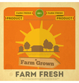 Farm Houses vector image vector image