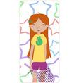 cute little girl vector image vector image