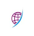 globe abstract technology logo vector image