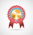 Award rosette with ribbons vector image