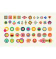 Geometry element set shape colorful icon symbol vector image