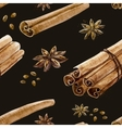 Watercolor spice pattern vector image