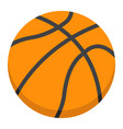 basketball ball flat icon sport and game vector image