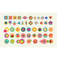 Geometry element set shape colorful icon symbol vector image
