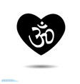 icon heart design elements for valentine s day vector image