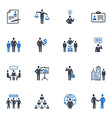 Management and Human Resource Icons - Blue Series vector image