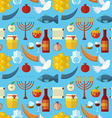 Rosh Hashanah Shana Tova or Jewish New year vector image