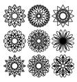 Set of circular ornaments vector image