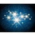 Shining Stars Blue Background vector image