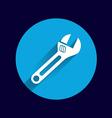 spanner icon button logo symbol concept vector image