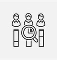 vote counting - line design single isolated icon vector image