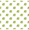 Green chinese dragon pattern cartoon style vector image