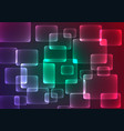 flat color geometric rectangle background vector image