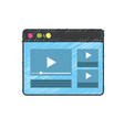 website with important videos information vector image