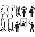 People with mirrors vector image