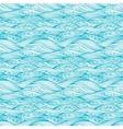 Blue Svirling Textile Pattern vector image