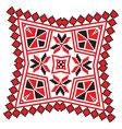 Ethnic ornament mandala geometric patterns in red vector image