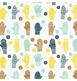 hand wool gloves vector image