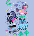 adorable wallpaper in the childish style with vector image