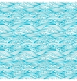 Blue Svirling Textile Pattern vector image