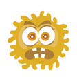 brown bacteria cartoon character icon vector image