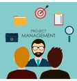 Business management design vector image