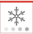 Christmas snowflake icon vector image