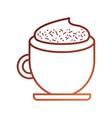 coffee cup cream cinnamon beverage fresh vector image