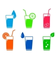 colorful cocktail set vector image