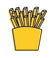 fries french fast food box icon vector image