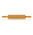 Image of a traditional rolling pin with reflection vector image