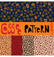 Pattern set with five coffee patterns vector image