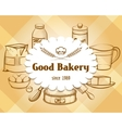 Retro craft bakery badge in vintage engraving vector image