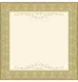 square beige background with decorative ornate vector image