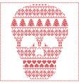 winter pattern sugar skull vector image