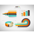 Set of flat design infographics statistics charts vector image