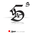 English alphabet in Japanese style - S - vector image