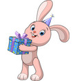 funny baby rabbit vector image