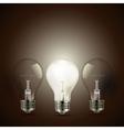retro light bulb vector image