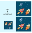 Educational game for children find the differences vector image