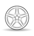 auto disk white vector image