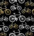 Bike seamless pattern bicycle gold concept vector image