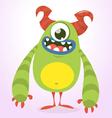 Happy green Halloween monster vector image