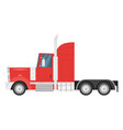 heavy transport - red truck vector image